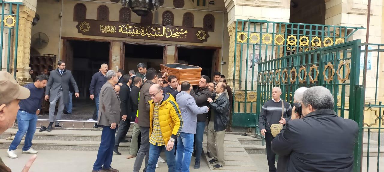 جنازة نجل رئيسة المجلس القومى للمرأة (2)