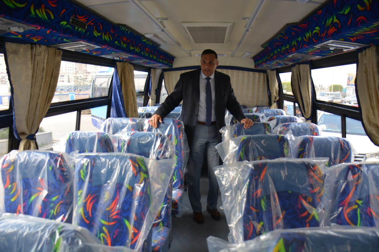 أتوبيسات نقل مميز جديدة ومكيفة لتشغيلها فى مدينة المنصورة (5)
