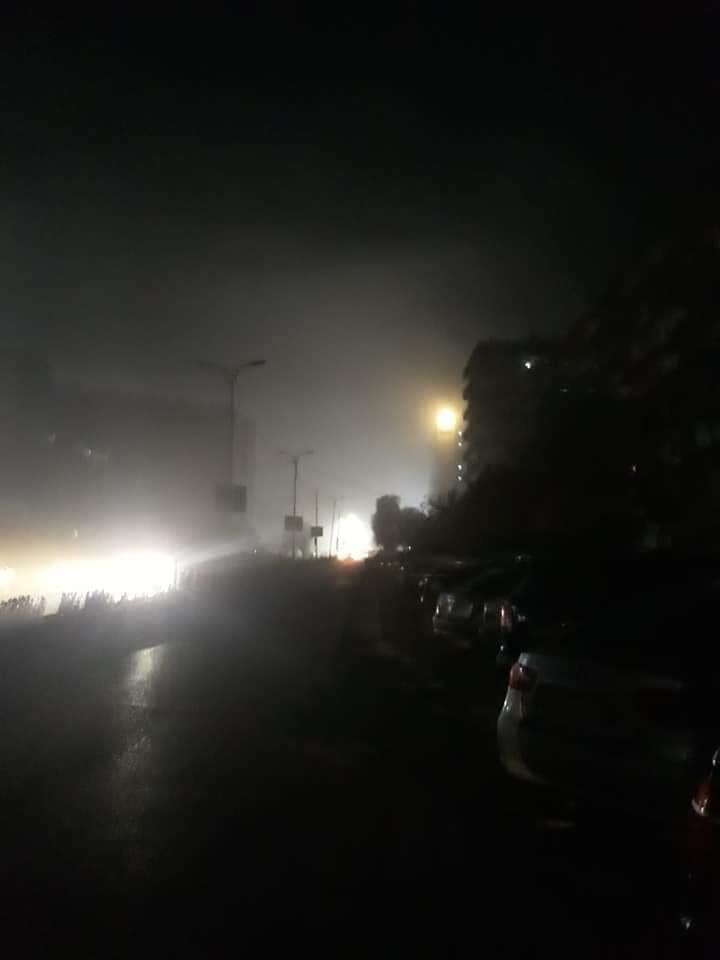 جانب من صور الضباب فى دمشق