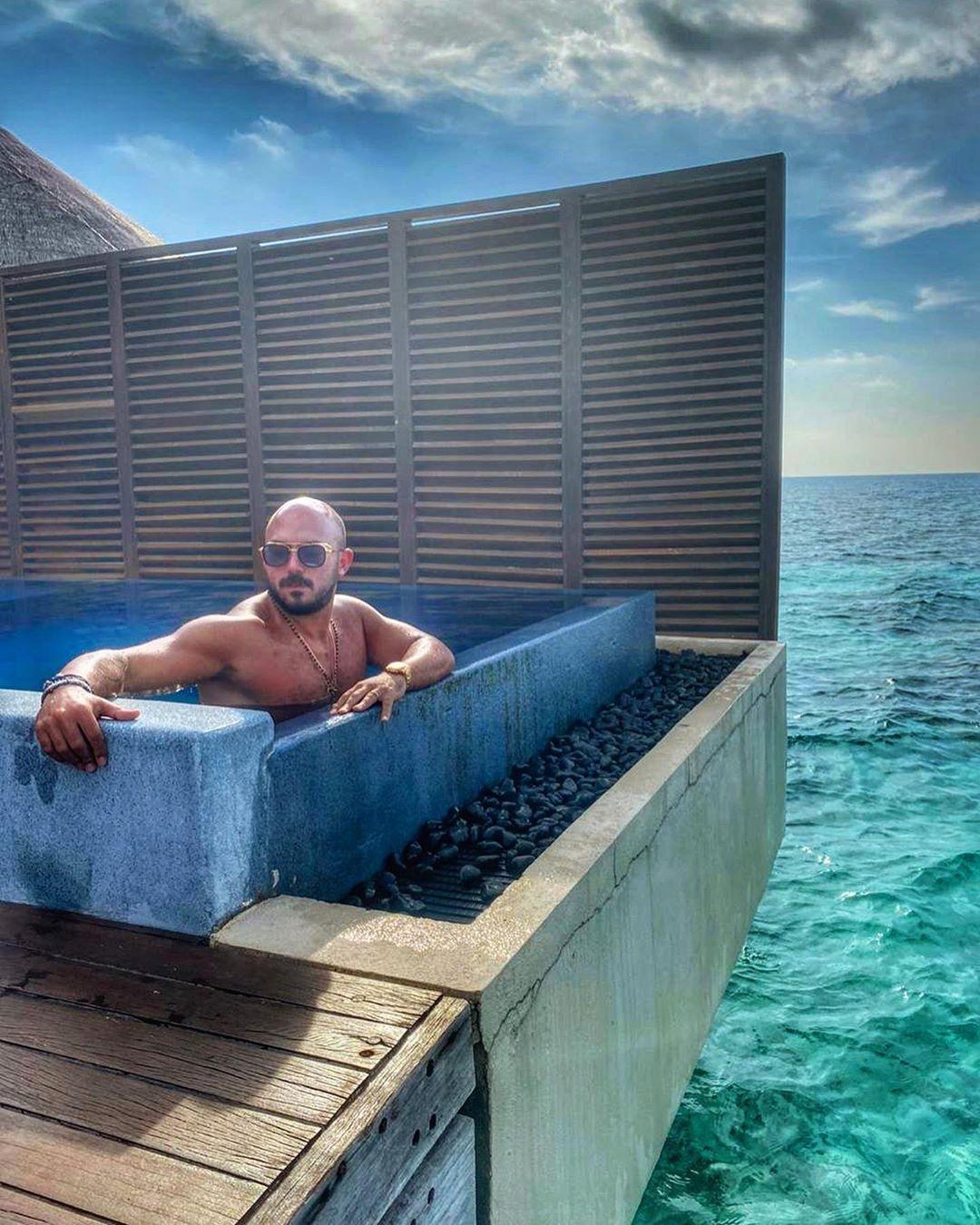 محمود العسيلى فى جزر المالديف
