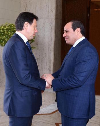 السيسى ورئيس الوزراء الإيطالى (3)