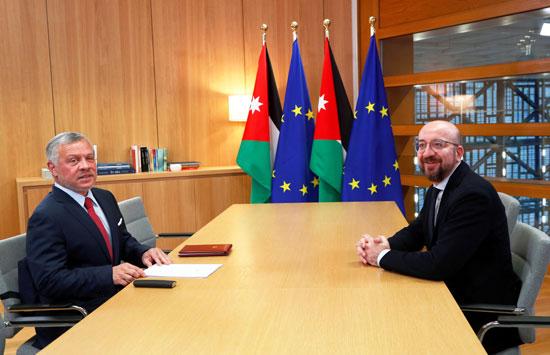 عاهل-الأردن-ورئيس-المجلس-الأوروبى