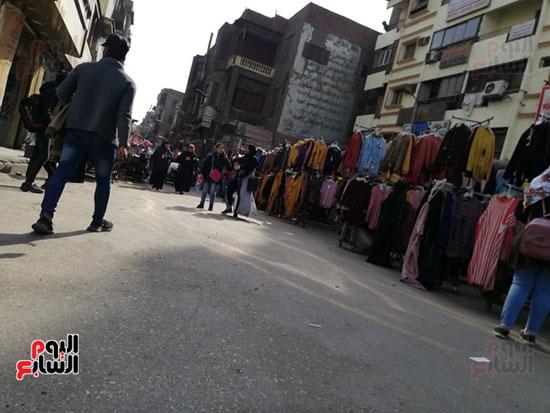 انتشار الباعة الجائلين بشوراع محافظة الجيزة  (1)