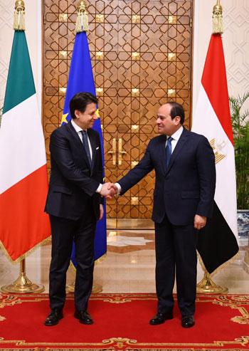 السيسى ورئيس الوزراء الإيطالى (1)