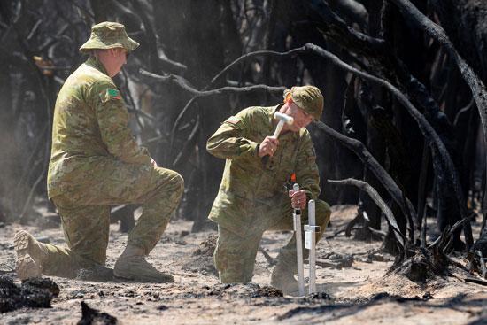 جهود كبيرة تقدمها القوات الأسترالية