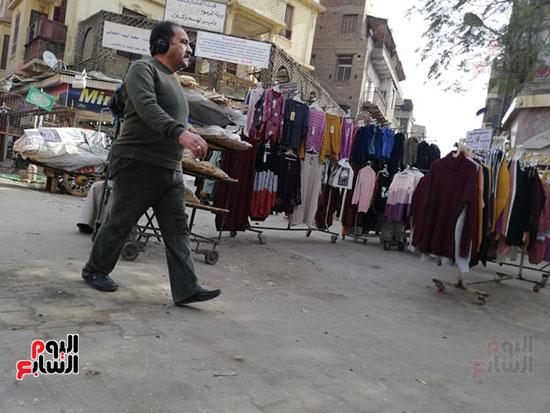 انتشار الباعة الجائلين بشوراع محافظة الجيزة  (9)
