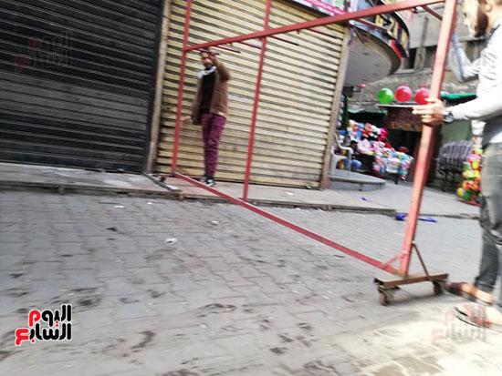 انتشار الباعة الجائلين بشوراع محافظة الجيزة  (12)