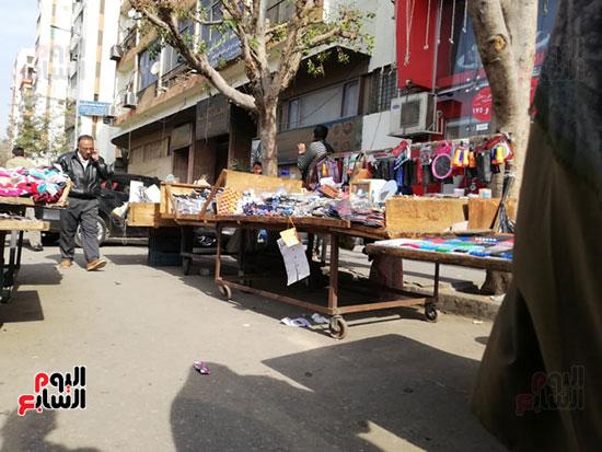 انتشار الباعة الجائلين بشوراع محافظة الجيزة  (2)