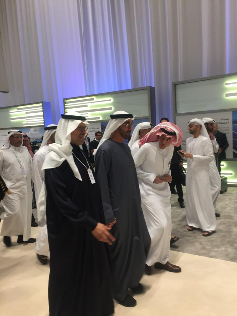 محمد بن زايد ووزير الطاقة السعودي