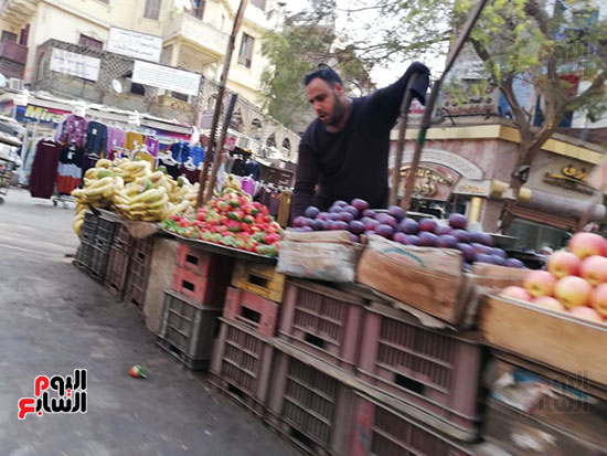 انتشار الباعة الجائلين بشوراع محافظة الجيزة  (11)