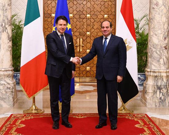 السيسى ورئيس الوزراء الإيطالى (4)