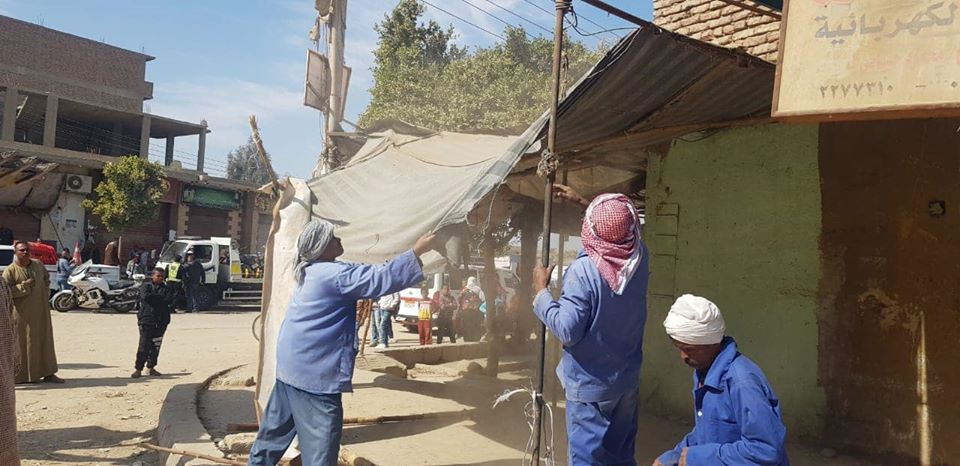تحرير 16 محضر إشغال وإزالة 80 طن تراكمات ومخلفات في حملة بشوارع البياضية (2)
