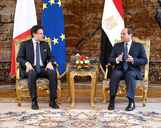 السيسى ورئيس الوزراء الإيطالى (5)