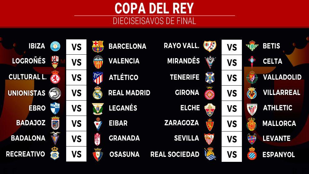 قرعة دور الـ 32 لكأس ملك إسبانيا