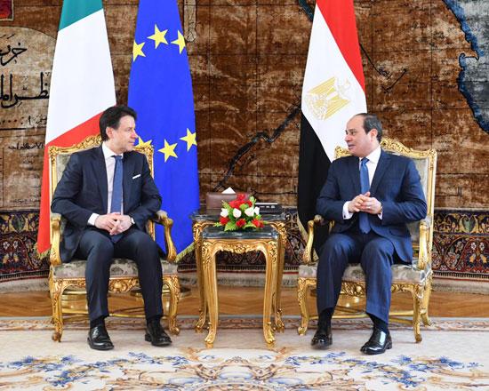 السيسى ورئيس الوزراء الإيطالى (2)