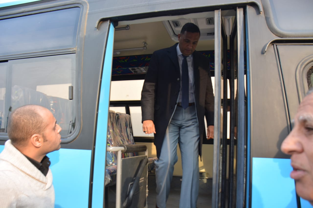 أتوبيسات نقل مميز جديدة ومكيفة لتشغيلها فى مدينة المنصورة (1)