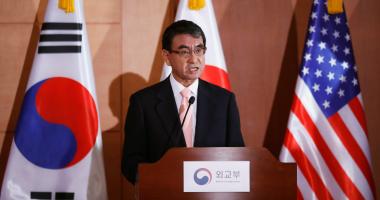 وزير الدفاع اليابانى تارو كونو