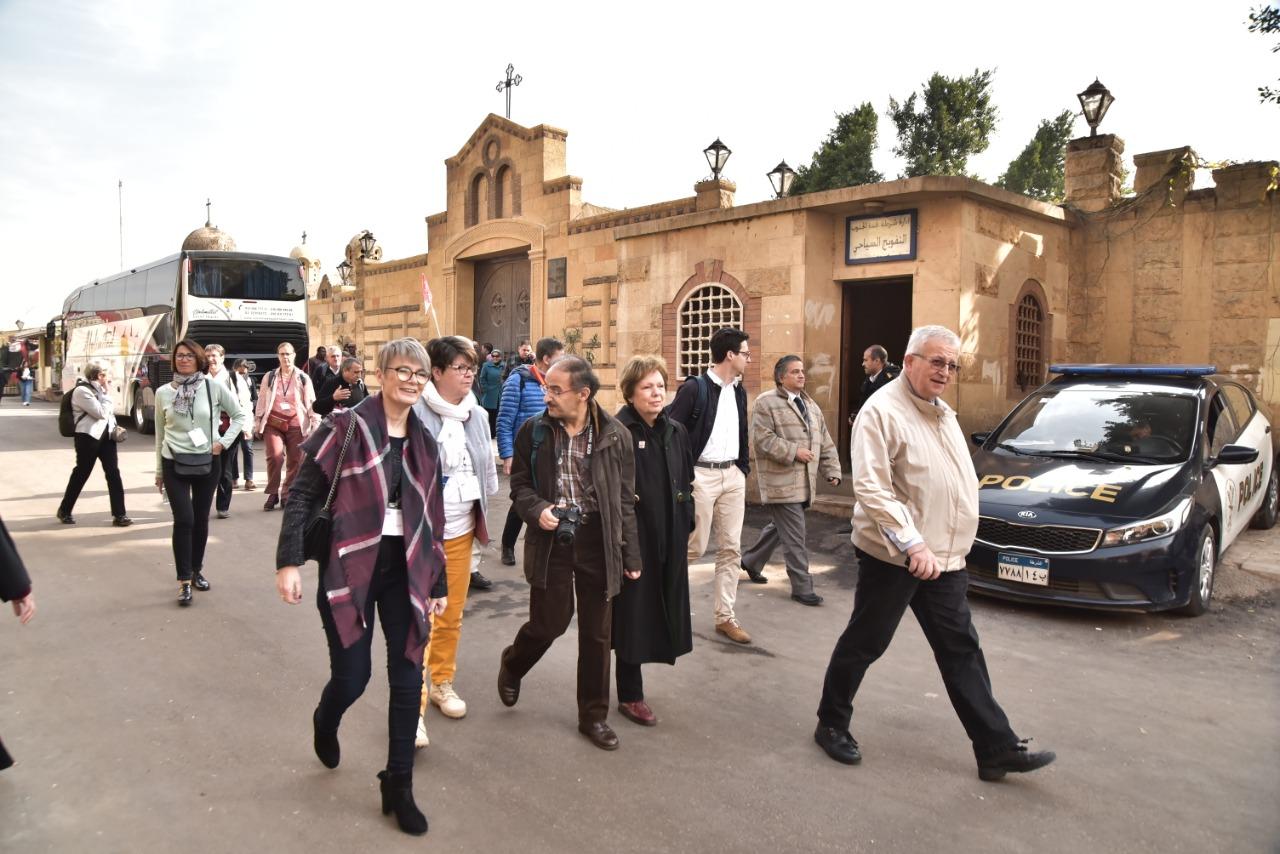 وفد الجمعية الوطنية للحج المسيحي يٌنهى زيارته نقاط رحلة العائلة المقدسة فى مصر (1)