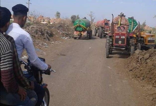نقل الصرف الصحي عبر عربات الكسح
