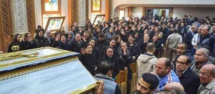 تشييع جثمان عروس الجنة الدكتورة سماح نبيل شهيدة ميكروباص طبيبات المنيا (1)