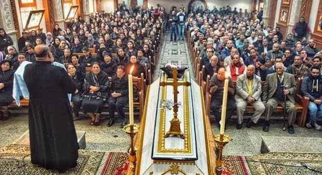 تشييع جثمان عروس الجنة الدكتورة سماح نبيل شهيدة ميكروباص طبيبات المنيا (2)