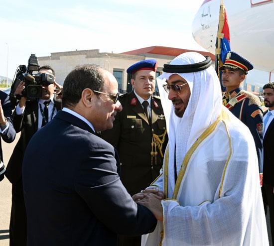 الرئيس-عبد-الفتاح-السيسى-يستقبل-الشيخ-محمد-بن-زايد