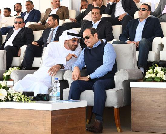 مناقشات جانبية بين الرئيس عبد الفتاح السيسى والشيخ محمد بن زايد آل نهيان ولي عهد أبوظبي