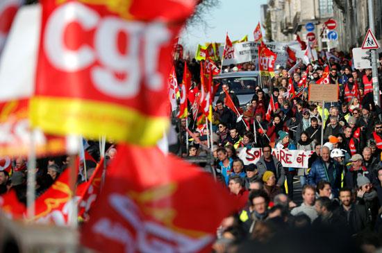 جانب من المظاهرات بفرنسا