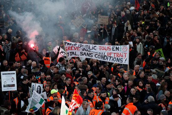 جانب من احتجاجات فرنسا