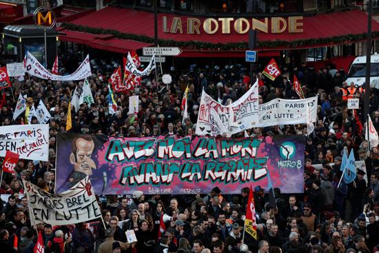 الاحتجاجات فى فرنسا