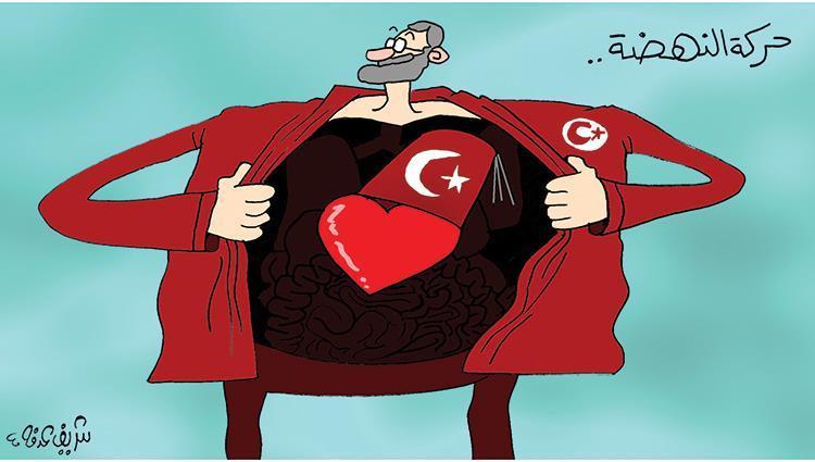 كاريكاتير حركة النهضة تستقوى باردوغان