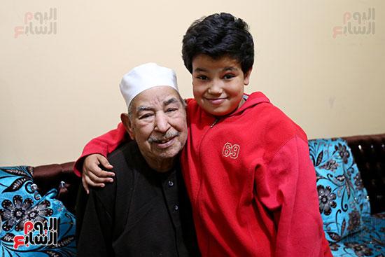 الشيخ الطبلاوى وآخر أبنائه