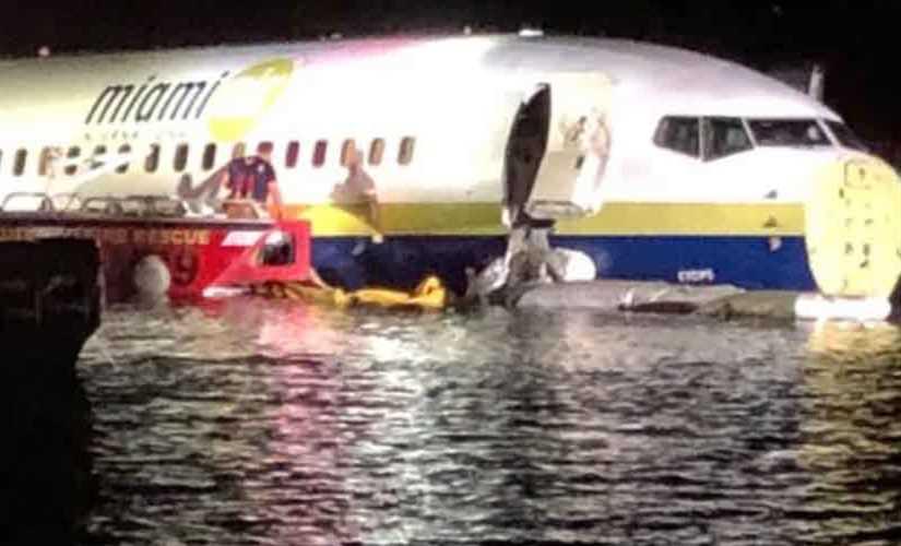 انزلاق طائرة بوينج بنهر فى فلوريدا