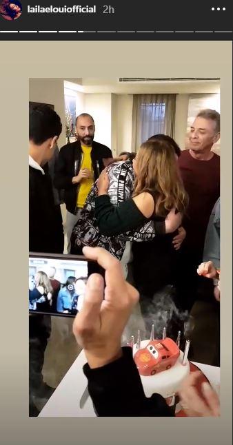 ليلى علوى تحتفل بعيد ميلاد ابنها  (1)