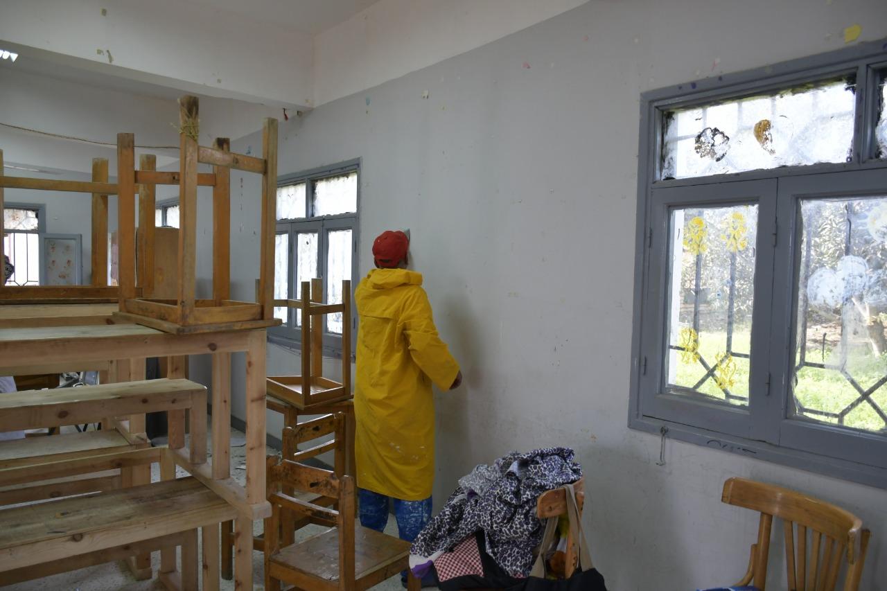 2- أعمال تجديد المدرسة