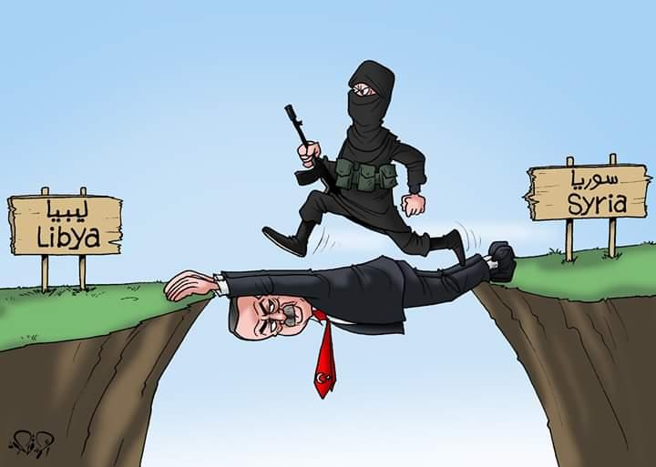 أردوغان جسر الإرهاب إلى ليبيا