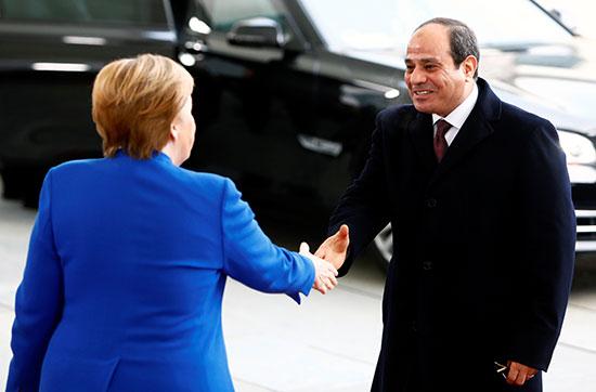 المستشارة الألمانية تستقبل الرئيس السيسى