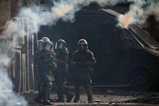 قوات الأمن فى تشيلى