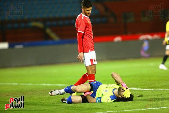 اصابة الحارس محمود أبو السعود