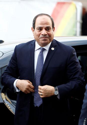 الرئيس عبد الفتاح السيسى عقب وصوله لمقر القمة