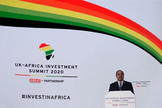 كلمة الرئيس عبد الفتاح السيسى بقمة الاستثمار بلندن