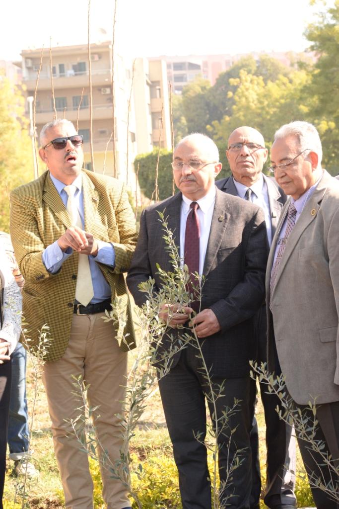 رئيس جامعة أسيوط يدعو طلاب الجامعة للمشاركة  في مبادرة هنجملها لغرس الأشجار المثمرة (7)