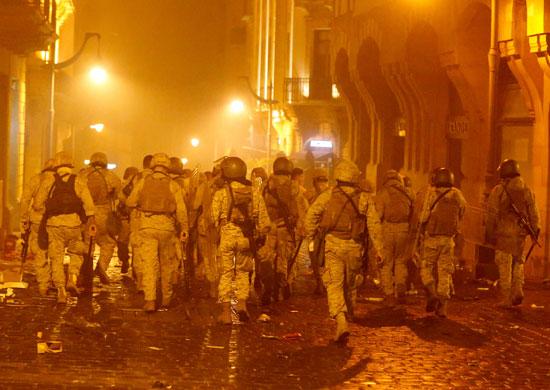 قوات الأمن فى شوارع بيروت