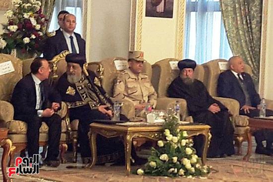 البابا يتلقى التهنئة بعيد الغطاس فى الإسكندرية