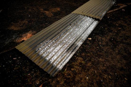 آثار الحرائق على الحديد