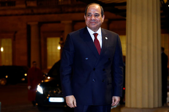 الرئيس المصري عبد الفتاح السيسي يصل إلى قصر باكنجهام في بريطانيا