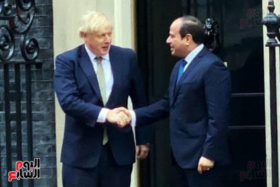 السيسى ورئيس الوزراء البريطانى (7)