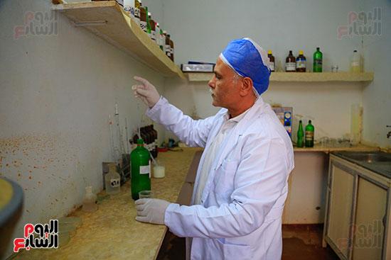 معمل تحليل اللبان بمصنع الجبنة