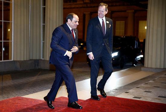 الرئيس  السيسي يصل إلى قصر باكنجهام في لندن