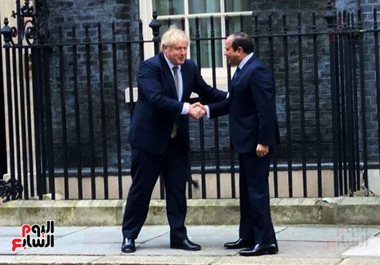 الرئيس عبد الفتاح السيسى و بوريس جونسون رئيس الوزراء البريطانى